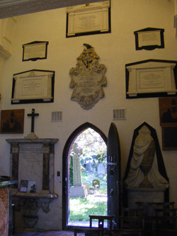 interior, west wall