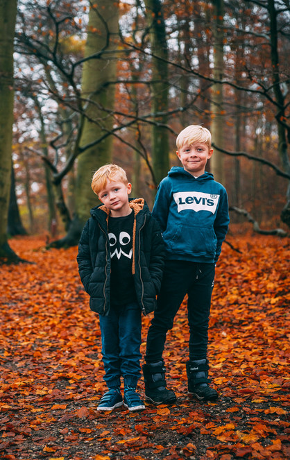 Cute kids in the forest