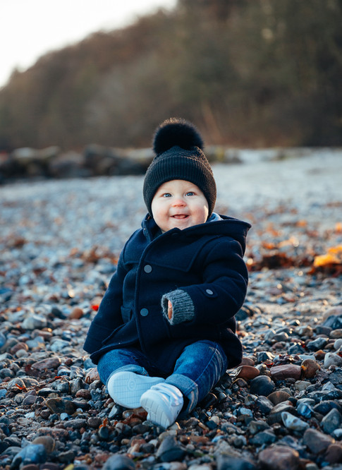 Cute boy at the beach