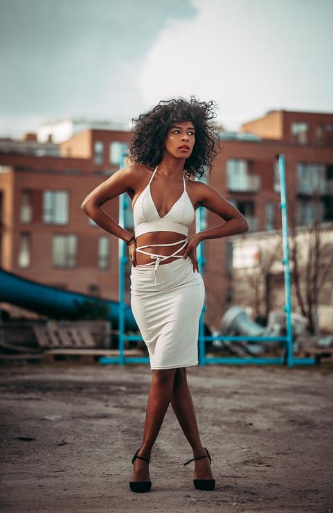Fashion Model at Urban Location