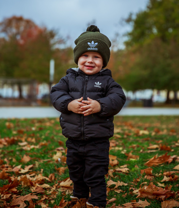 Cute kid in the park