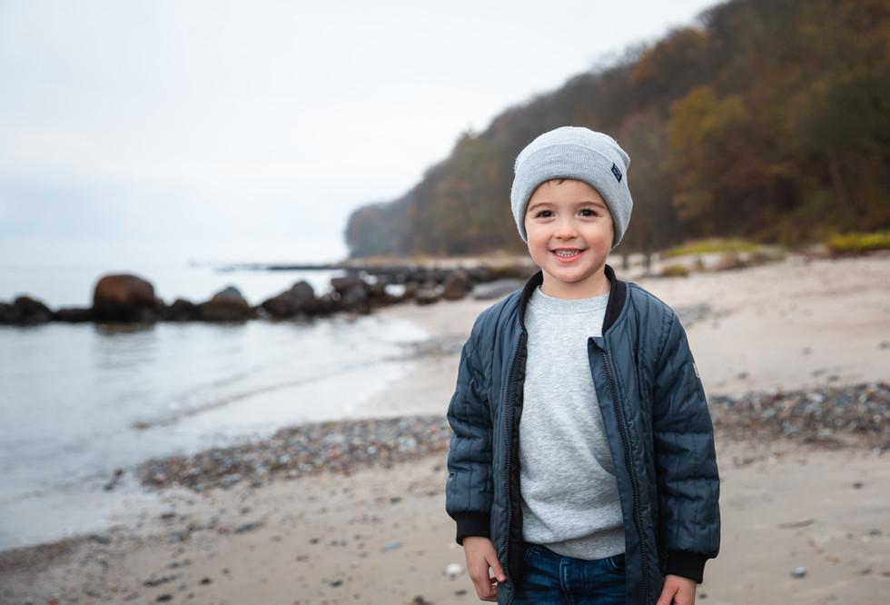 Cute kid at the beach