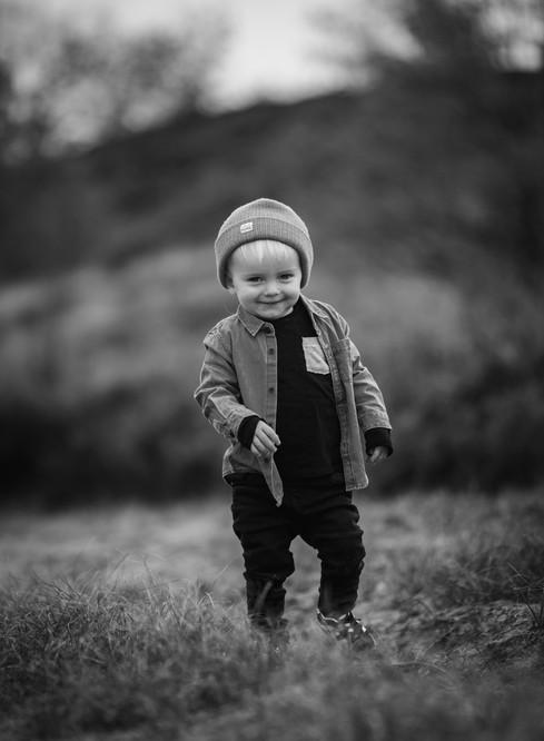 Cute kid in nature