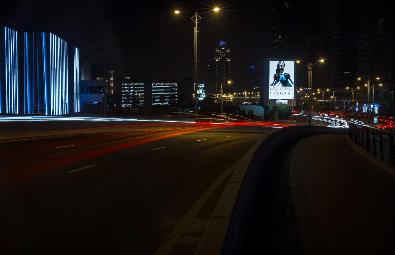 Dubai lighttrails