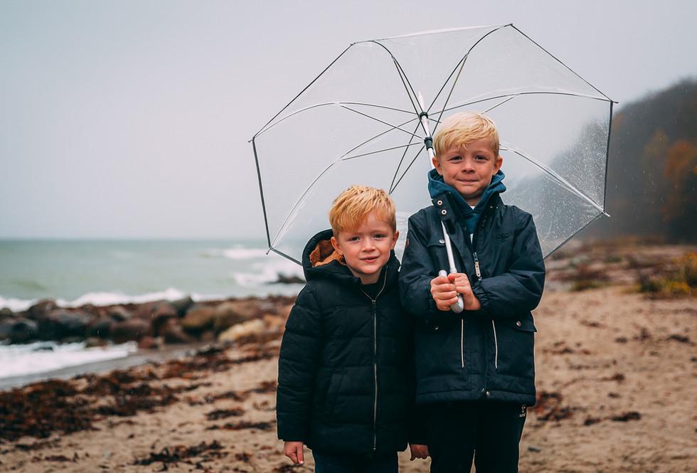 Cute kids at the beach