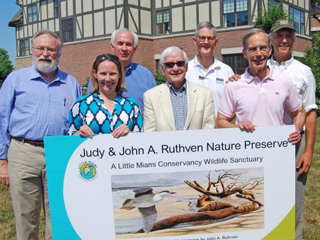 LMC Honors Judy and John A. Ruthven with dedicated nature preserve at Horseshoe Bend