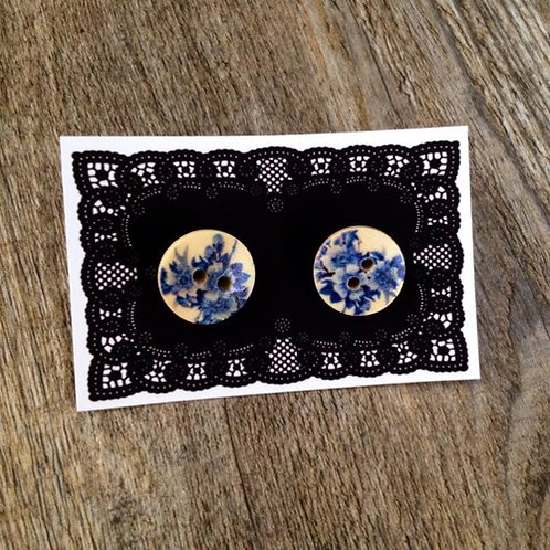 china blue 15mm button studs