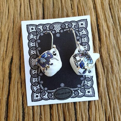 blue baroque milk & sugar earrings