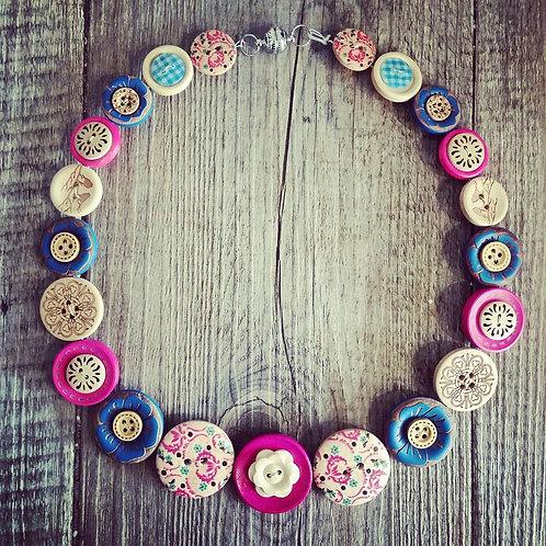 baroque button necklace