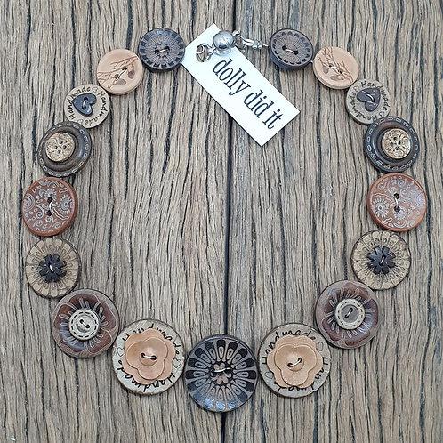 Wild Wood Button Necklace