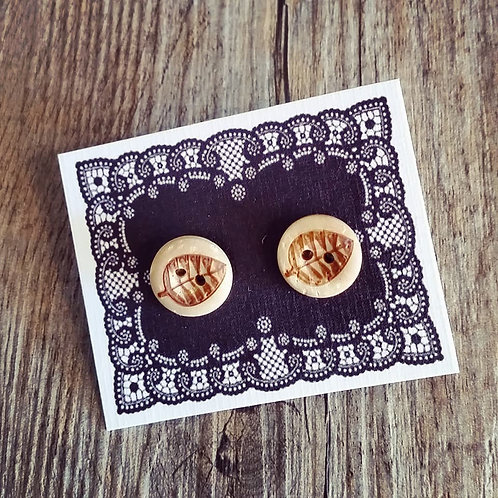 leafy 13mm button studs