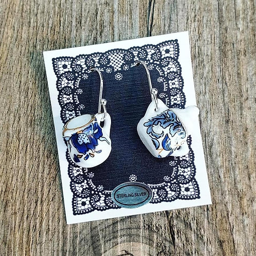 blue baroque milk & sugar earrings