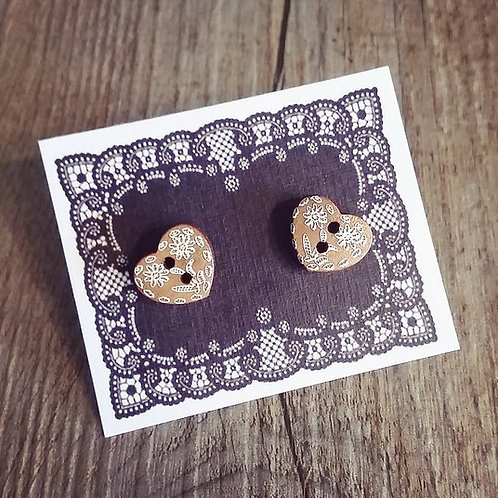 etched in my heart 13mm button studs