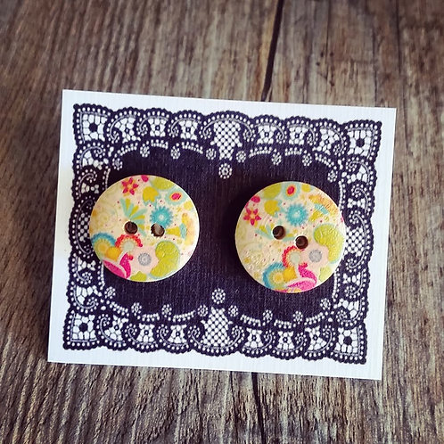 rainbows & lollypops 18mm button studs
