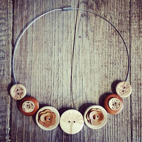 wood for the trees wire cable necklace
