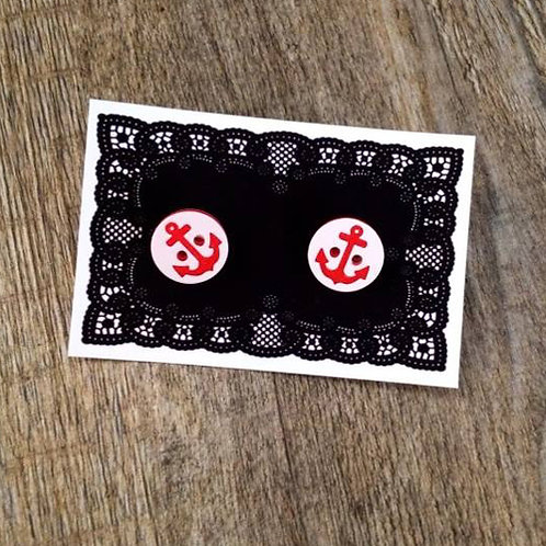 ship ahoy 15mm button studs - red