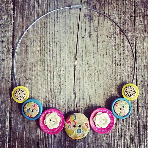 rainbows and lollipops cable necklace