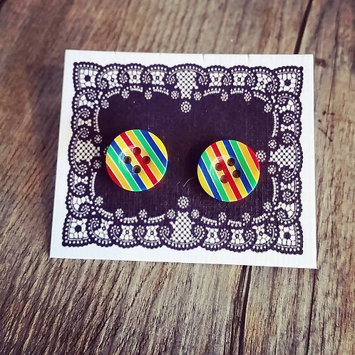 equality rainbow 13mm button studs