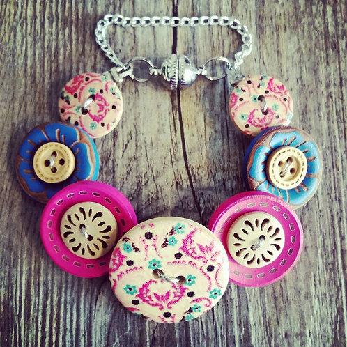 baroque button bracelet