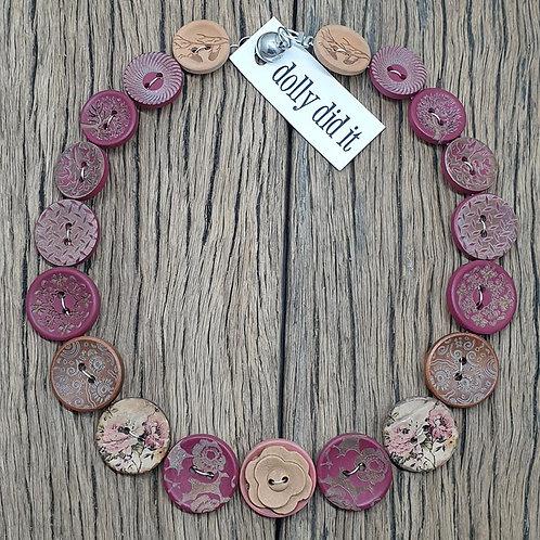 Plum Button Necklace 1