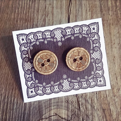 deco flower 15mm button studs