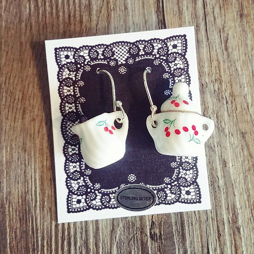 cherries  milk & sugar earrings