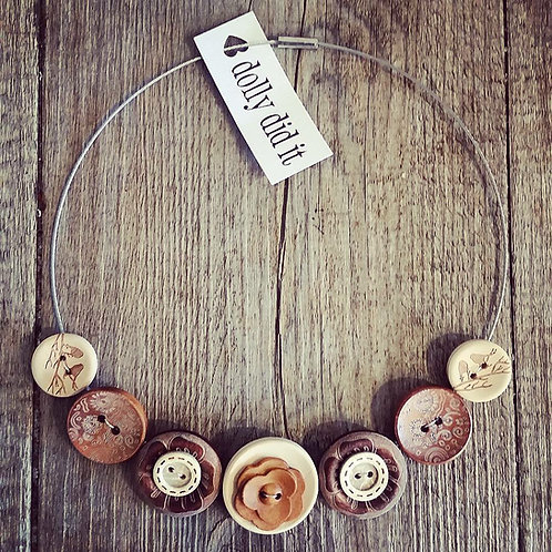naturally daisy cable necklace