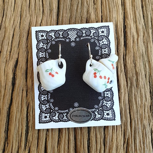 cherries  milk & sugar earrings