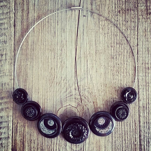 black as the night cable necklace