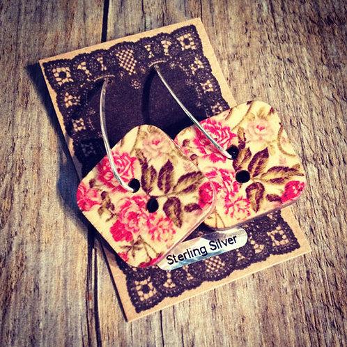 peony blossom drop earrings