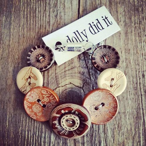 little birdy button bracelet