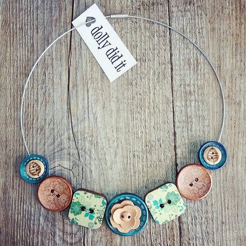 keepin'it real with teal wire cable necklace