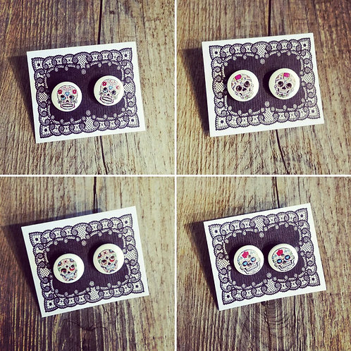 day of the dead 15mm button studs