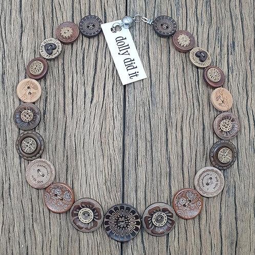 Wild Wood Button Necklace 2