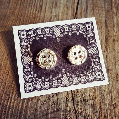 gold bling 13mm button studs