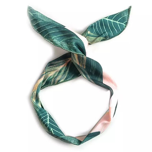 Wired luscious leaves headbands