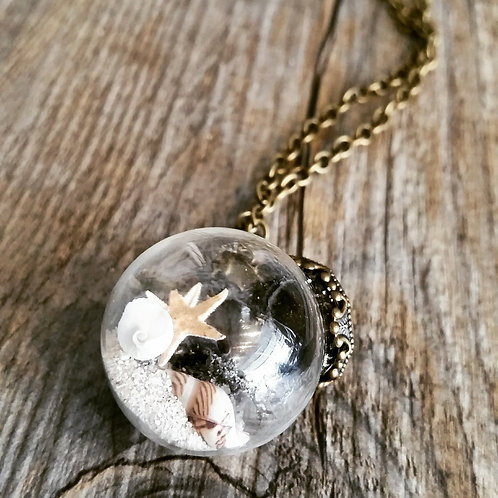 beach bubble pendant