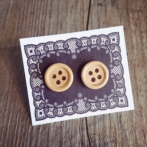 pearwood 15mm button studs