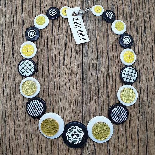 Mellow Yellow Button Necklace