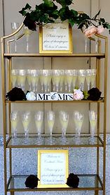 Gold Etagere $75