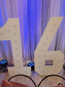 Marquee Numbers $85/each