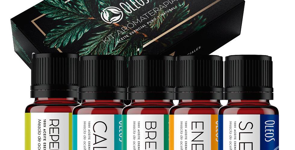 Kit Mezclas De Aceites Esenciales Aromaterapia 10 Ml. 5pzas