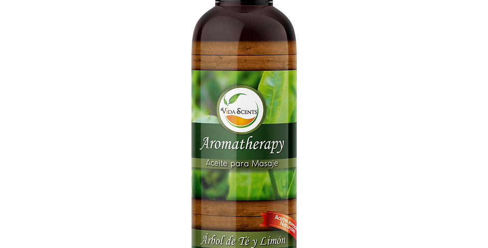 Aceite para masaje de Árbol de té y Limón 125 ml.