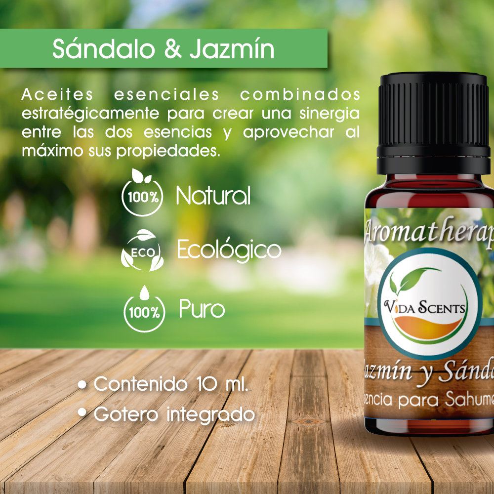 Sándalo Esencia Jazmín Aromatherapy Ml Y 10 dQtshr