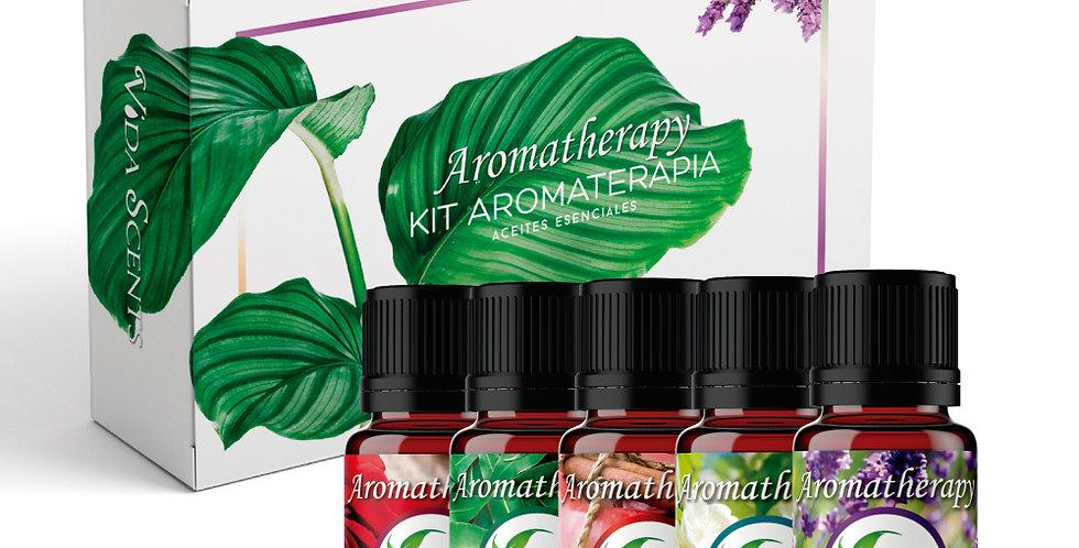 Kit Aromatherapy 5 aceites esenciales 10 ml.