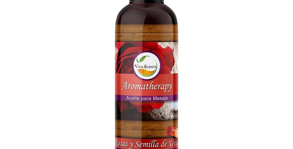Aceite para masaje Rosas & Semilla de uva 125 ml.