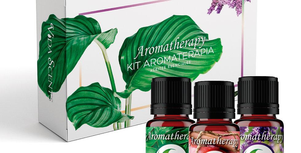 Kit Aromaterapia 3 Aceites Esenciales 10ml. 100% Natural