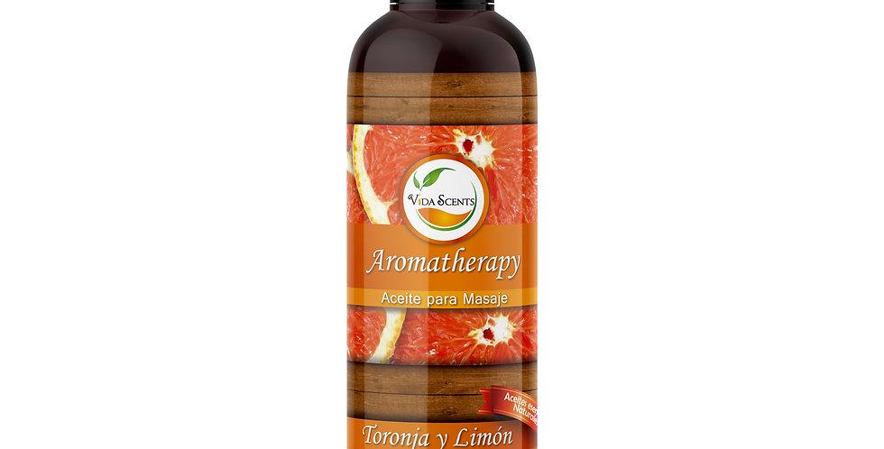 Aceite para masaje Toronja y Limón 125 ml.