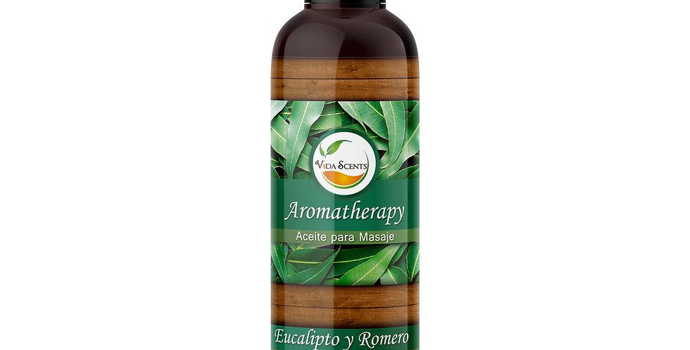 Aceite para masaje Romero & Eucalipto 125 ml.