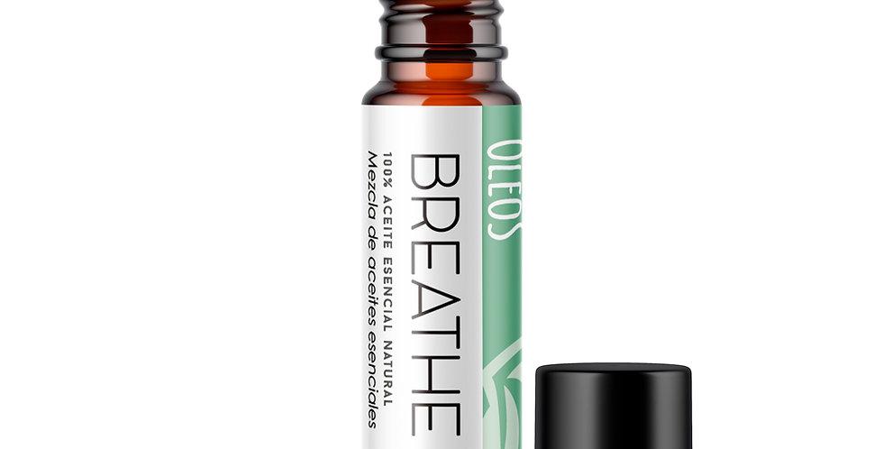 Aceite esencial en Roll on BREATHE (Romero, Eucalipto, Poleo) 10